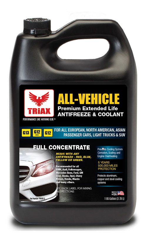 TRIAX All-Vehicle Antifreeze 100% si Pre-diluat ELC (Extended Life Coolant) G12, G12++, G13