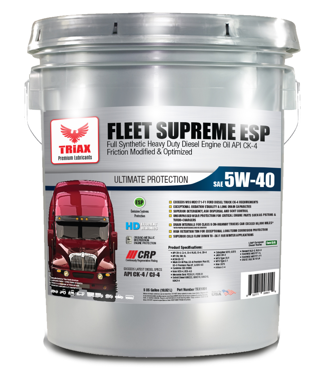 TRIAX Fleet Supreme 5W-40 FULL SYNTHETIC - CK-4