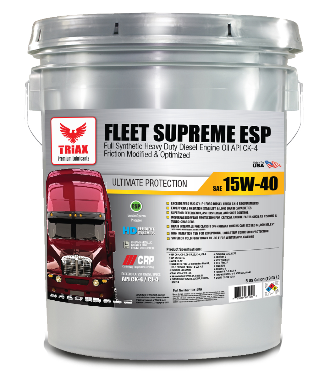 TRIAX Fleet Supreme ESP 15W-40 Full Synthetic (Euro 5) cu Molybden