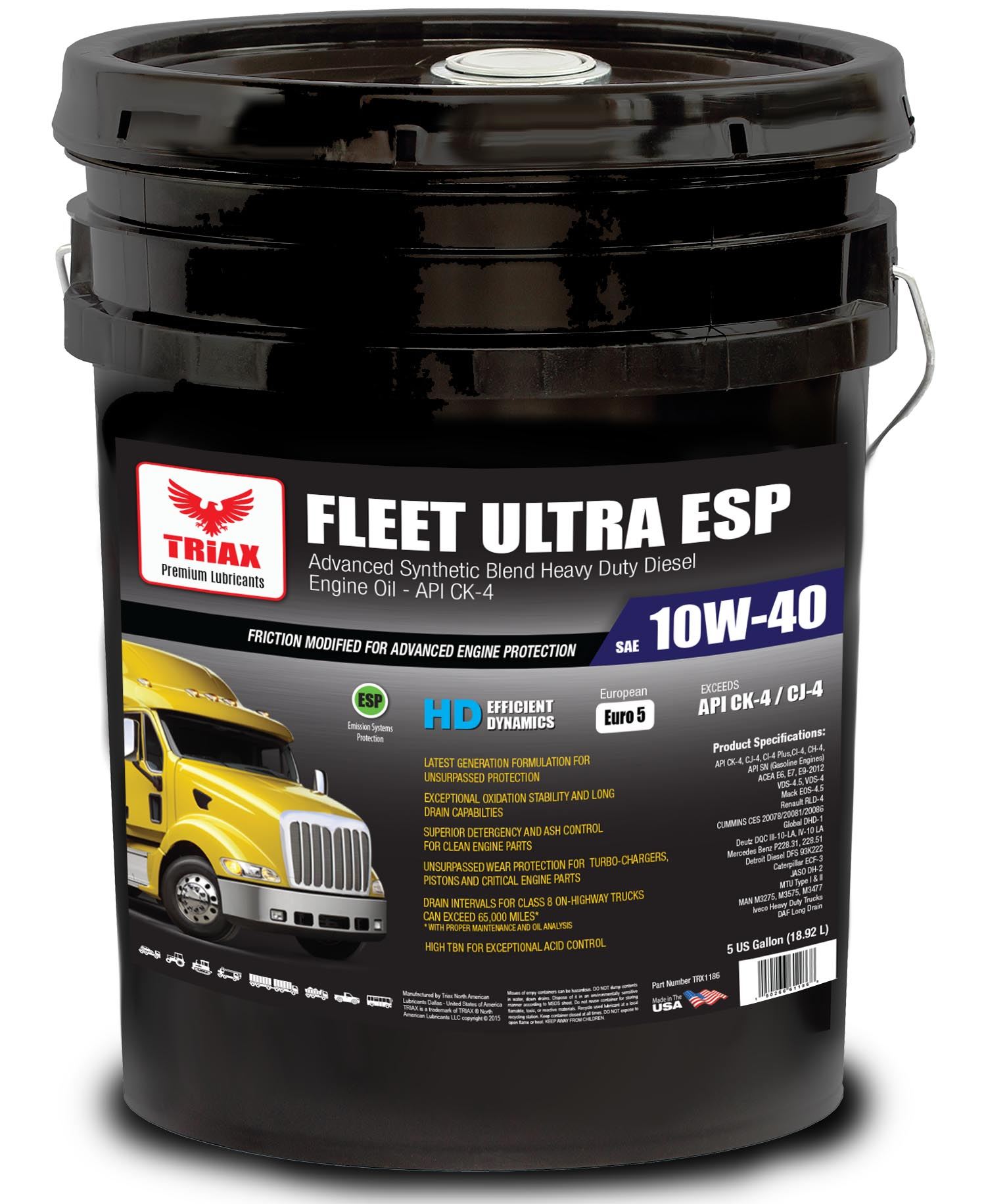 TRIAX Fleet Ultra ESP Synthetic 10W-40 CK-4 Euro V