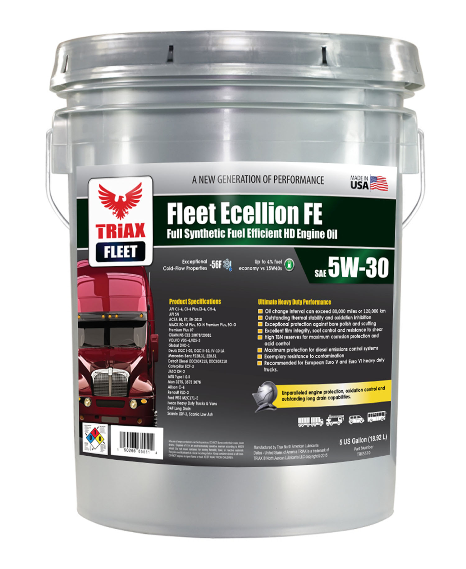 TRIAX Fleet Ecellion FE 5W-30 Euro 6 si IVECO