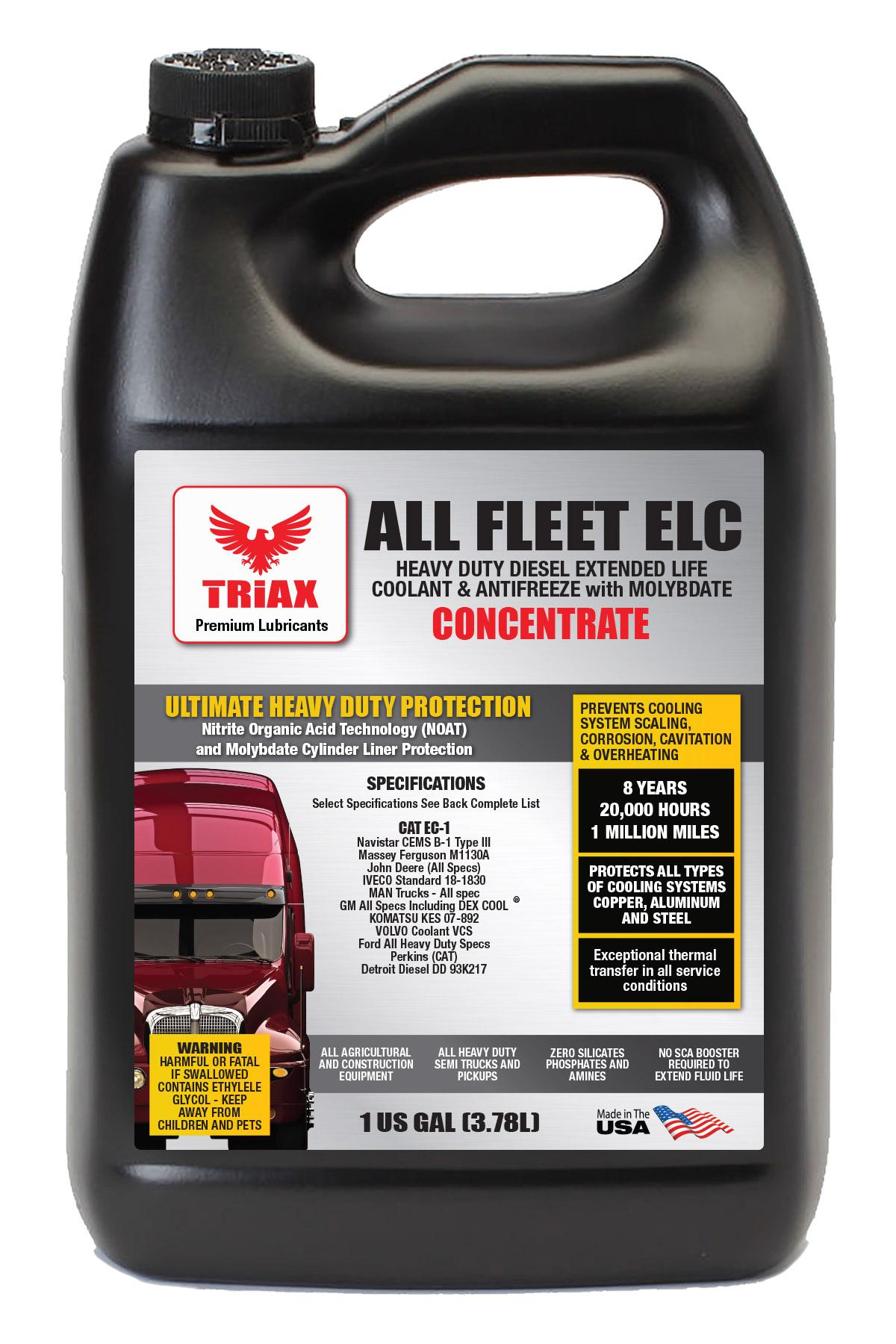 TRIAX Fleet ELC 100% Concentrat - Antigel Camioane, Utilaje si Autoturisme