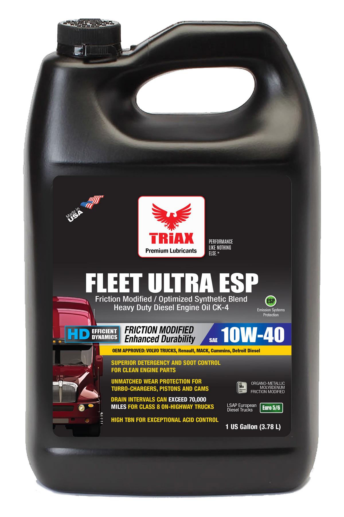 TRIAX Fleet Ultra ESP Synthetic 10W-40 CK-4 Euro V