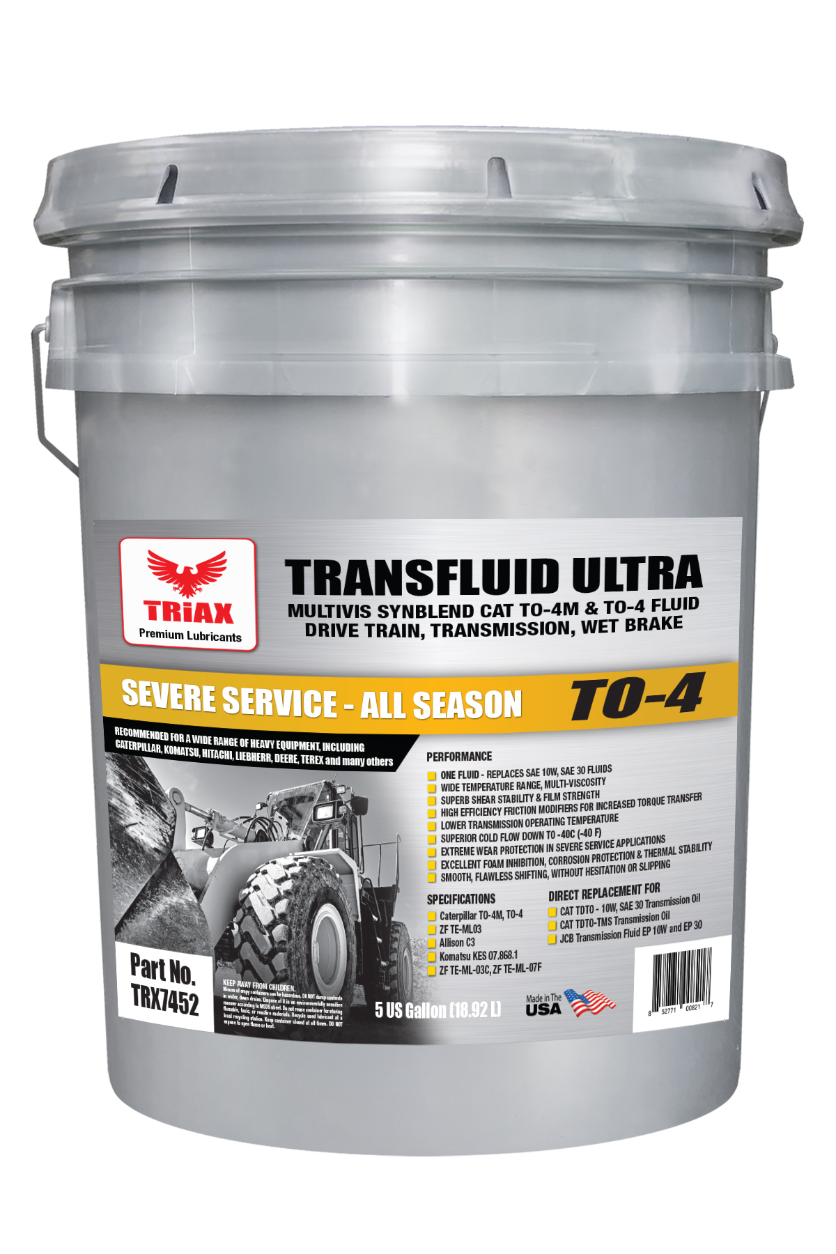 TRIAX TRANSFLUID ULTRA CAT TO-4 Multi-Viscosity - Final Drive | Drive Train Fluid